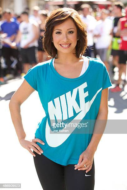 Cheryl Burke Hosts We Run The Grove at The Park at The Grove on April 26 2014 in Los Angeles California