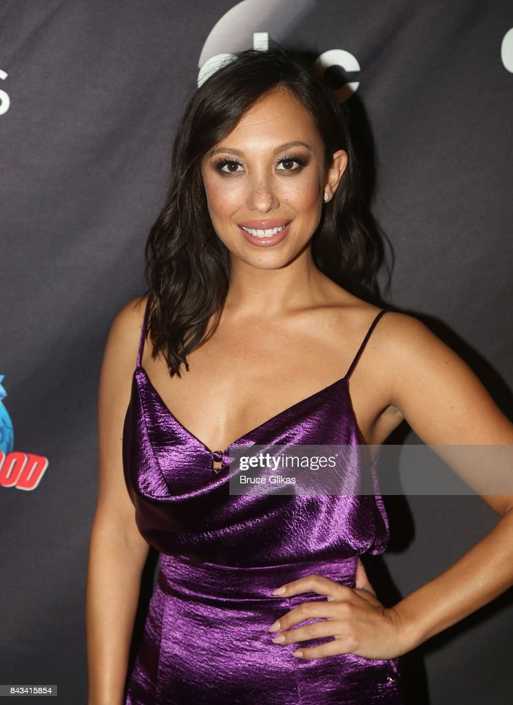 Cheryl Burke poses at ABC's 'Dancing with the Stars' Season 5 cast announcement event at Planet Hollywood Times Square on September 6, 2017 in New York City.
