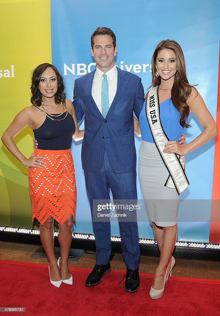 Cheryl Burke, Thomas Roberts and Nia Sanchez attend the 2015 NBC New York Summer Press Day at Four Seasons Hotel New York on June 24, 2015 in New York City.