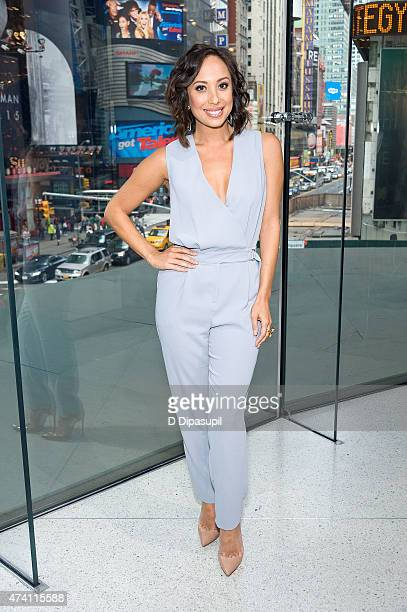 Cheryl Burke visits 'Extra' at their New York studios at HM in Times Square on May 20 2015 in New York City