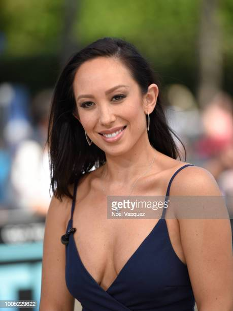 Cheryl Burke visits 'Extra' at Universal Studios Hollywood on July 25 2018 in Universal City California