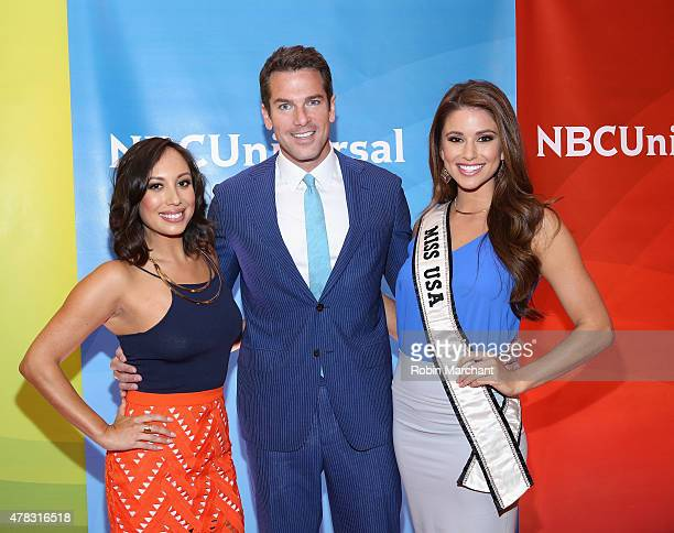Cheryl BurkeThomas Roberts and Nia Sanchez attend the NBC's 2015 New York Summer Press Day at Four Seasons Hotel New York on June 24 2015 in New York...