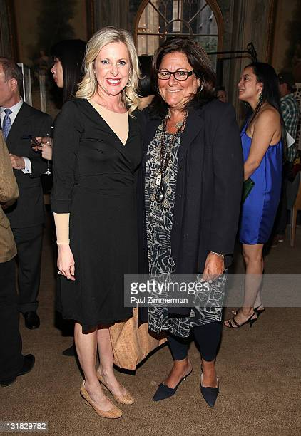 Cheryl Casone and Fern Mallis attend Julien Marinetti's Doggy John exhibition opening at The New York Palace Hotel on May 10 2011 in New York City