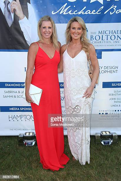 Cheryl Casone and Heather Childers attend the 2016 Michael Bolton Charities Fundraiser An Evening Under the Stars at a Private Estate on August 20...