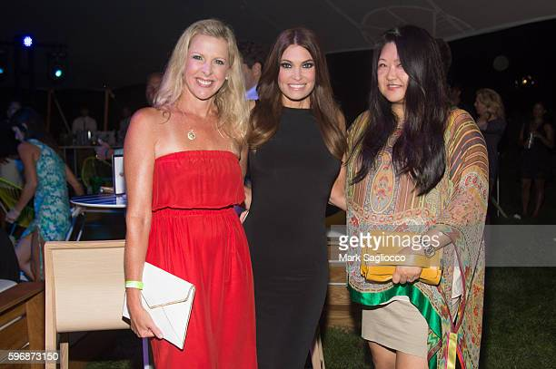 Cheryl Casone Kimberly Guilfoyle and Susan Shin attend VH1 Save The Music Hamptons Live 2016 on August 27 2016 in Sagaponack New York