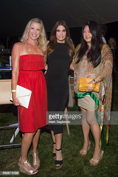 Cheryl Casone Kimberly Guilfoyleand Susan Shin attends VH1 Save The Music Hamptons Live 2016 on August 27 2016 in Sagaponack New York