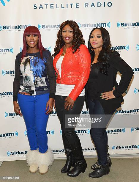 Cheryl Clemons Tamara JohnsonGeorge and Leanne Lyons of RB trio 'SWV' visit SiriusXM Studios on January 15 2014 in New York City