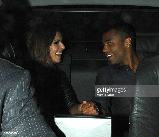 Cheryl Cole and Ashley Cole are seen on August 14 2008 in London England