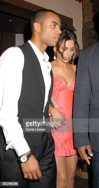 Cheryl Cole and Ashley cole attend Sarah Harding's birthday at Kanaloa Nightclub on November 21 2009 in London England