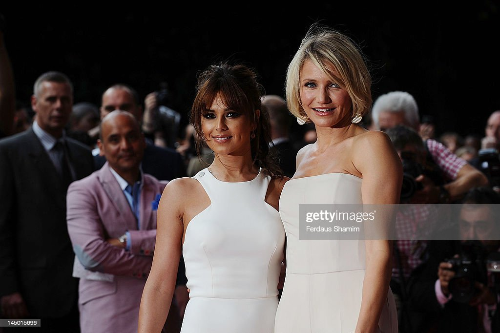Cheryl Cole and Cameron Diaz attend the UK premiere of What To Expect When You're Expecting at BFI IMAX on May 22, 2012 in London, England.