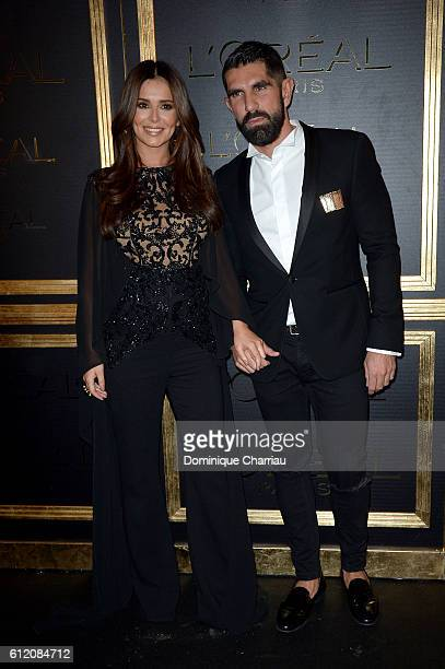 Cheryl Cole and guest attend attends the L'OreAL Gold Obsession Party as part of the Paris Fashion Week Womenswear Spring/Summer 2017 on October 2...