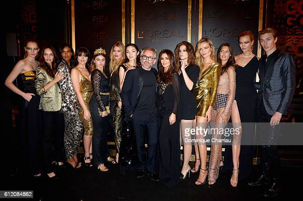 Cheryl Cole and models attends attends the L'OreAL Gold Obsession Party as part of the Paris Fashion Week Womenswear Spring/Summer 2017 on October 2,...