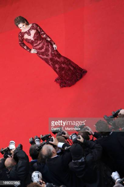 Cheryl Cole attends Jimmy P Premiere during the 66th Annual Cannes Film Festival at Grand Theatre Lumiere on May 18 2013 in Cannes France