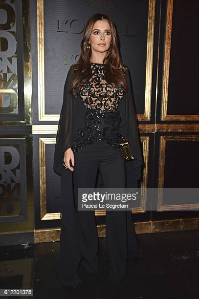 Cheryl Cole attends the Gold Obsession Party L'Oreal Paris Photocall as part of the Paris Fashion Week Womenswear Spring/Summer 2017 on October 2...