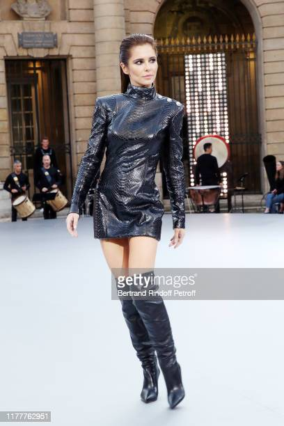 "Cheryl Cole attends the ""Le Defile L'Oreal Paris"" show as part of Paris Fashion Week At Monnaie de Paris on September 28, 2019 in Paris, France."