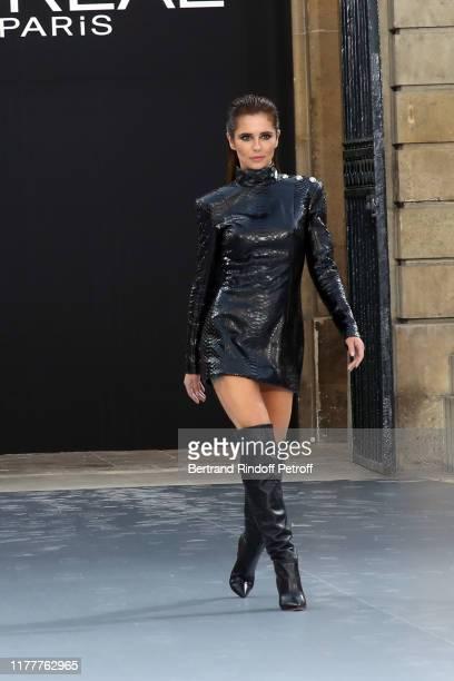 """Cheryl Cole attends the """"Le Defile L'Oreal Paris"""" show as part of Paris Fashion Week At Monnaie de Paris on September 28, 2019 in Paris, France."""