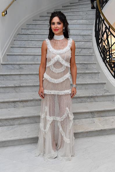 Cheryl Cole sheer transparent dress Cannes red carpet 2018