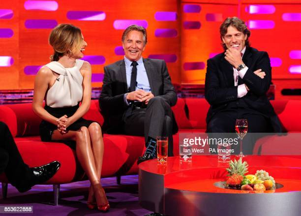 Cheryl Cole Don Johnson and John Bishop during filming of the Graham Norton Show at the London Studios south London to be aired on BBC One on Friday...