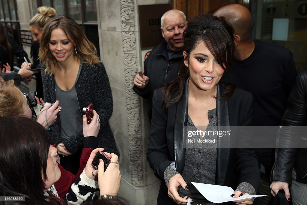 Cheryl Cole from Girls Aloud seen at BBC Radio One on November 12, 2012 in London, England.