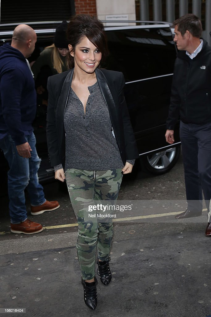 Cheryl Cole from Girls Aloud seen at KISS FM on November 12, 2012 in London, England.