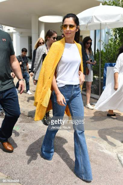 Cheryl Cole is seen leaving Hotel Martinez during the 71st annual Cannes Film Festival at on May 12 2018 in Cannes France