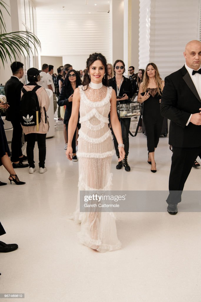 Cheryl Cole is seen leaving the Martinez Hotel ahead of the 'Ash Is The Purest White (Jiang Hu Er Nv)' during the 71st annual Cannes Film Festival at on May 11, 2018 in Cannes, France.