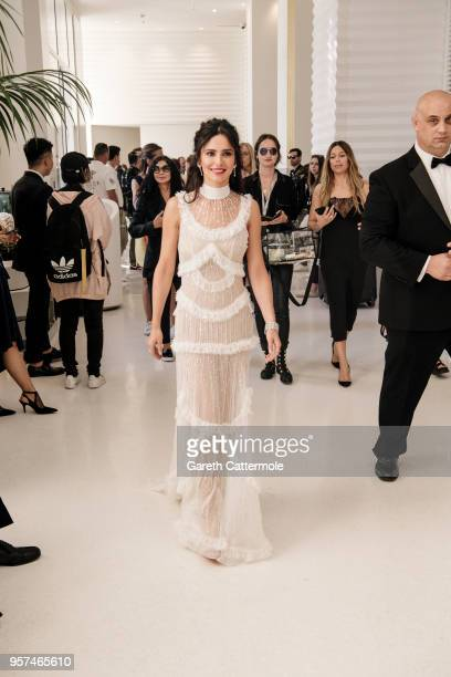 Cheryl Cole is seen leaving the Martinez Hotel ahead of the 'Ash Is The Purest White ' during the 71st annual Cannes Film Festival at on May 11 2018...