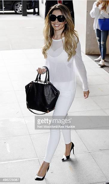 Cheryl Cole leaves the BBC Radio 1 Studios on June 2 2014 in London England