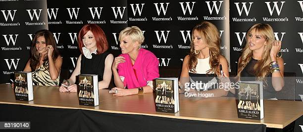 Cheryl Cole Nicola Roberts Sarah Harding Kimberley Walsh and Nadine Coyle of Girls Aloud attend a book signing for their new autobiography 'Girls...