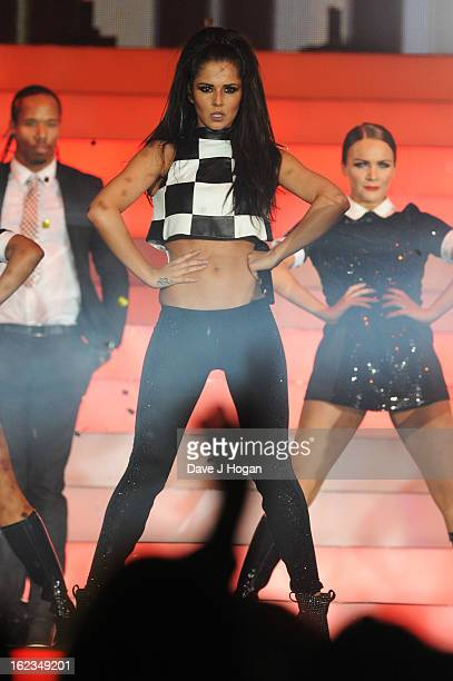 Cheryl Cole of Girls Aloud perform on stage on the first night of their Girls Aloud The Hits Tour 2013 tour at the Metro Radio Arena on February 21...
