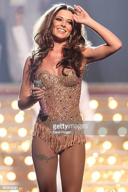 Cheryl Cole performs at the Brit Awards 2009 held at Earls Court on February 18 2009 in London England