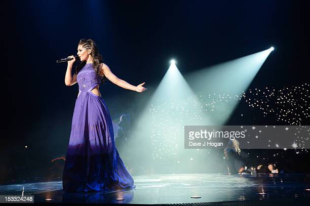 Cheryl Cole performs on the opening night of her 'A Million Lights' tour at The Odyssey Arena on October 3 2012 in Belfast Northern Ireland