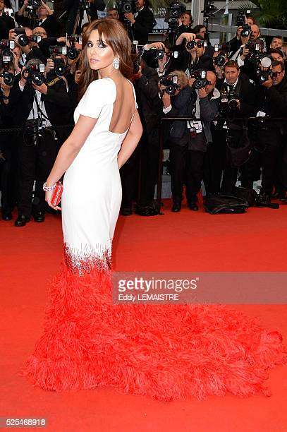 Cheryl Cole Tweedy arrives at the Amour Premiere during the 65th Cannes Film Festival.