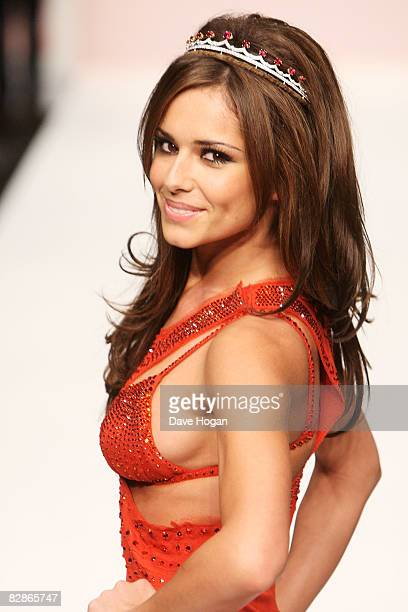 Cheryl Cole walks down the catwalk during the Fashion For Relief fashion show at London Fashion Week Spring/Summer 2009 on September 17 2008 in...