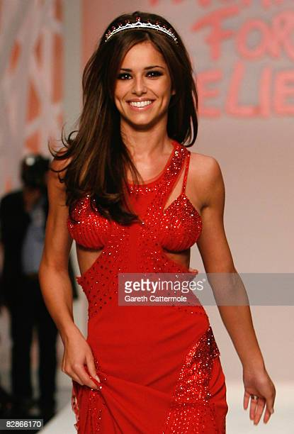 Cheryl Cole walks the runway during the Fashion For Relief show during London Fashion Week Spring/Summer 2009 on September 17 2008 in London England...