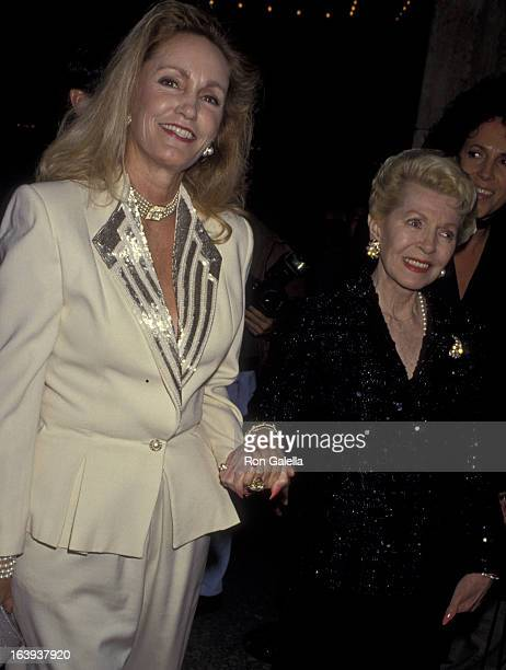 Cheryl Crane and Lana Turner attend the opening of Sunset Blvd on December 9 1993 at the Shubert Theater in Century City California