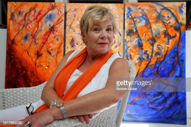 Cheryl Dyment poses for a portrait at her studio in Middleton MA on Aug 10 2018 One year ago shortly after reading a Globe story about Tom Tinlin's...