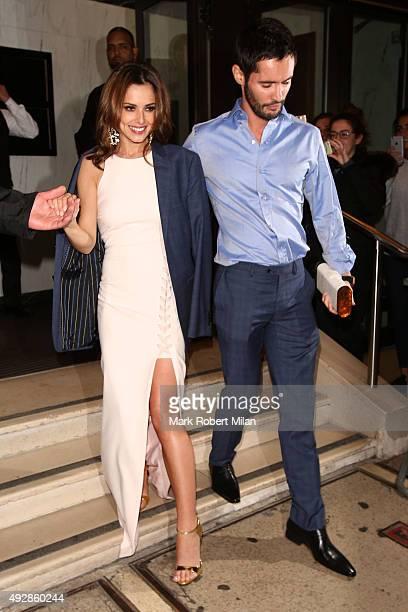 Cheryl FernandezVersini and JeanBernard FernandezVersini attending Ant and Dec's 40th Birthday party at the Kensington Roof Gardens on October 15...