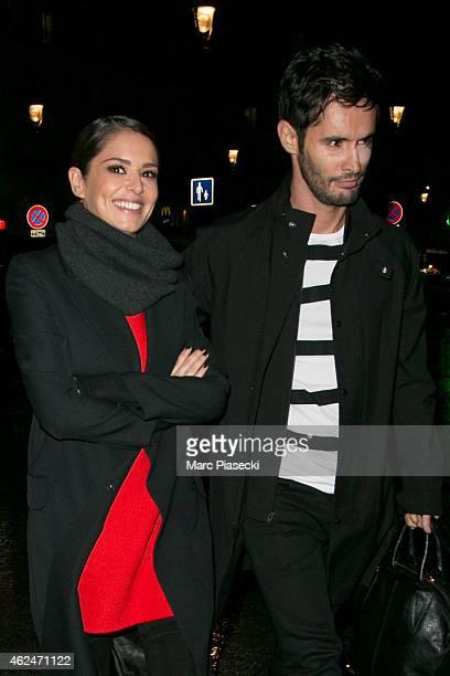 Cheryl FernandezVersini and JeanBernard Versini are seen at 'Gare du Nord' station on January 29 2015 in Paris France