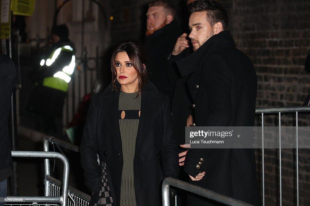Cheryl Switches On The St James' Church Christmas Lights : News Photo