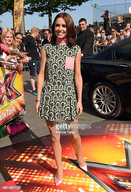 Cheryl FernandezVersini attends the London auditions of The X Factor at SSE Arena on July 21 2015 in London England