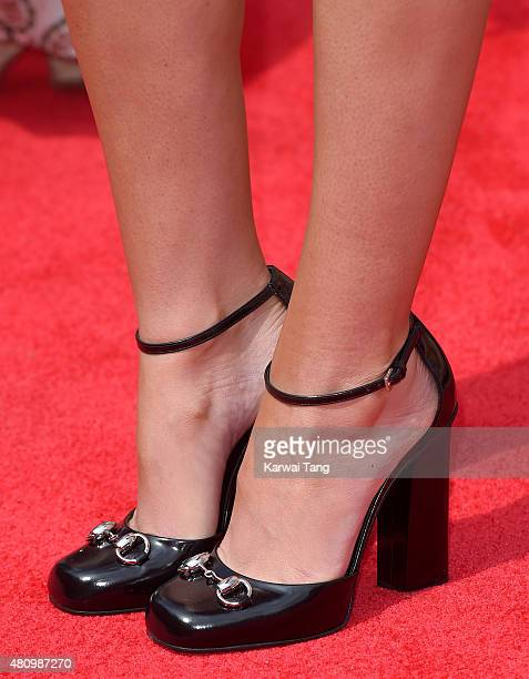 Cheryl FernandezVersini shoe detail attends the London auditions of The X Factor at SSE Arena on July 16 2015 in London England
