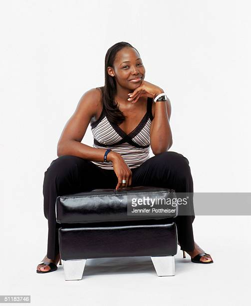 Cheryl Ford of the Detroit Shock poses for a WNBA Portrait at Westin Hotel on August 4 2004 in New York New York NOTE TO USER User expressly...