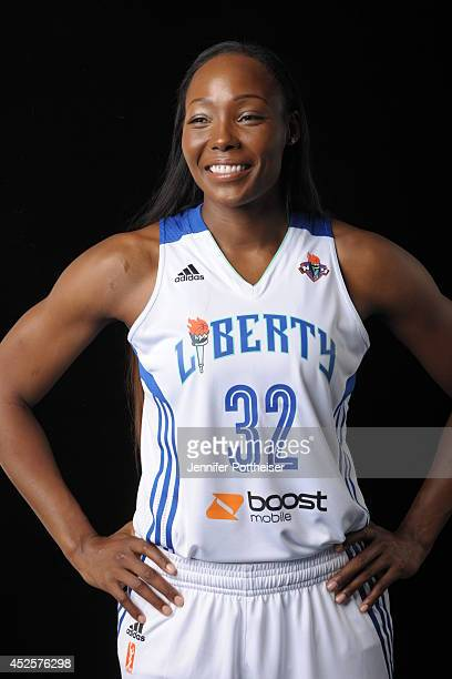 Cheryl Ford of the New York Liberty poses for a portrait during 2013 Media Day on May 13 2013 at the Madison Square Garden Training Facility in...