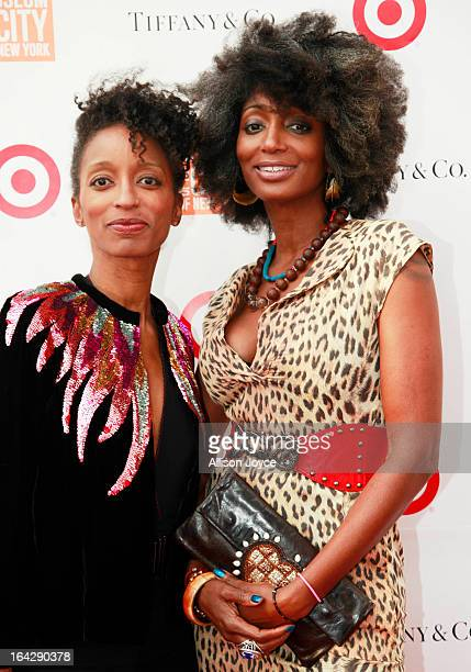 Cheryl Freeman and Donna Freeman Hughes attend the Stephen Burrows When Fashion Danced exhibition opening on March 21 2013 in New York City