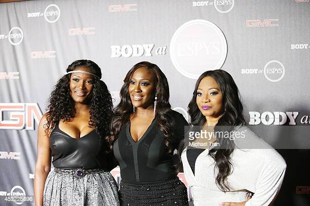 Cheryl Gamble Tamara Johnson and Leanne Lyons of SWV arrive at the BODY at ESPYS PreParty held at Lure on July 15 2014 in Hollywood California