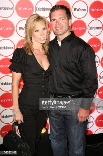 Cheryl Hines and guest during Entertainment Weekly's 4th Annual Pre-Emmy Party at Republic in West Hollywood, California, United States.