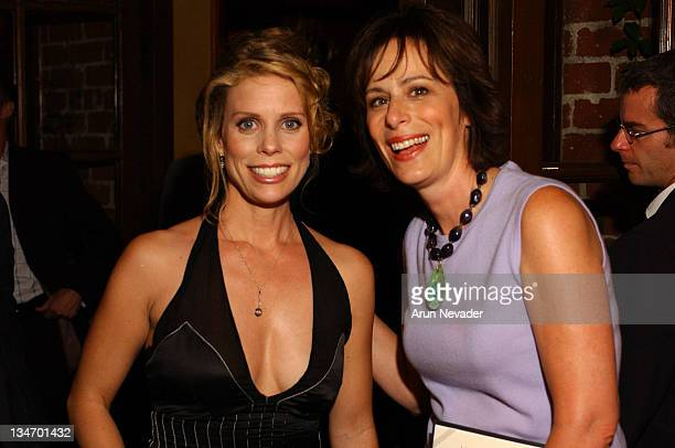 Cheryl Hines and Jane Kaczmarek during ATAS Honors the 55th Annual Primetime Emmy Award Nominees Inside at Spago in Beverly Hills California United...