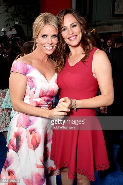 Cheryl Hines and Jennifer Garner attend the premiere Of EuropaCorp's Nine Lives at TCL Chinese Theatre on August 1 2016 in Hollywood California
