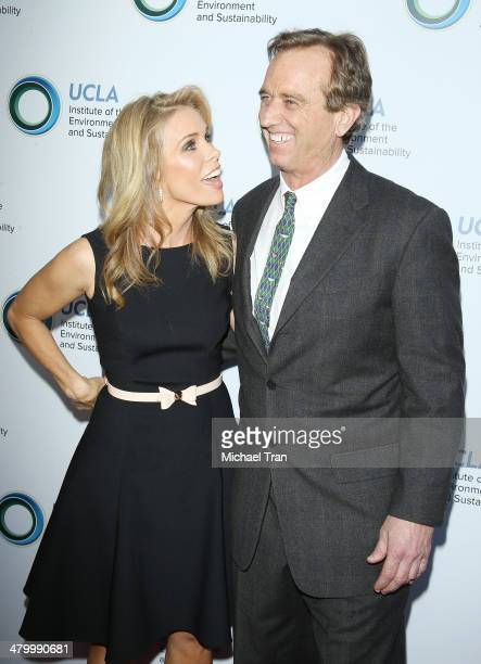 Cheryl Hines and Robert F Kennedy Jr arrive at An Evening of Environmental Excellence presented by the UCLA Institute of The Environment and...